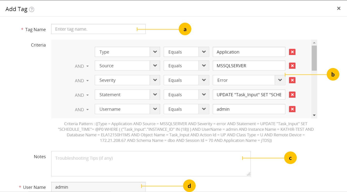 Assign Tag UI