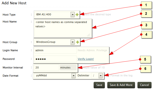 Add IBM AS/400 host