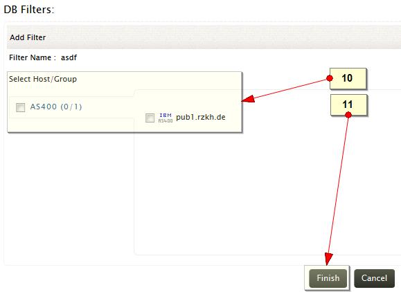 Add log database filter