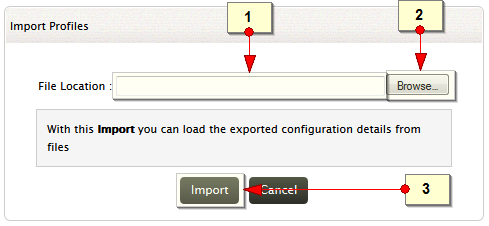 Import profiles