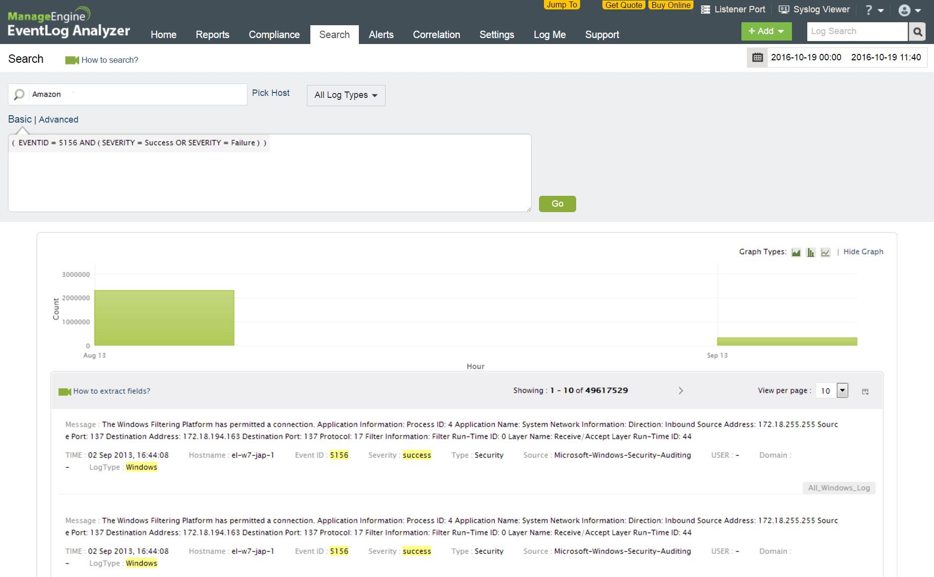 Amazon Web Services EC2 Windows Instance Log Monitoring Software