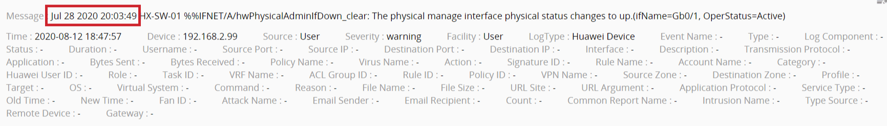 For syslog devices