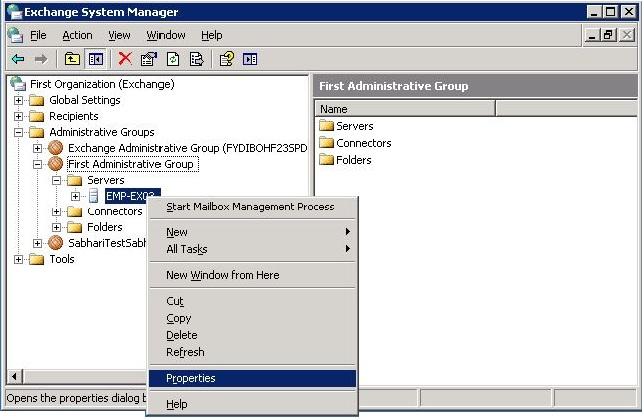 Configuring Exchange Servers