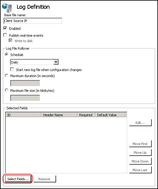 Prerequisites for OWA logs gathering task