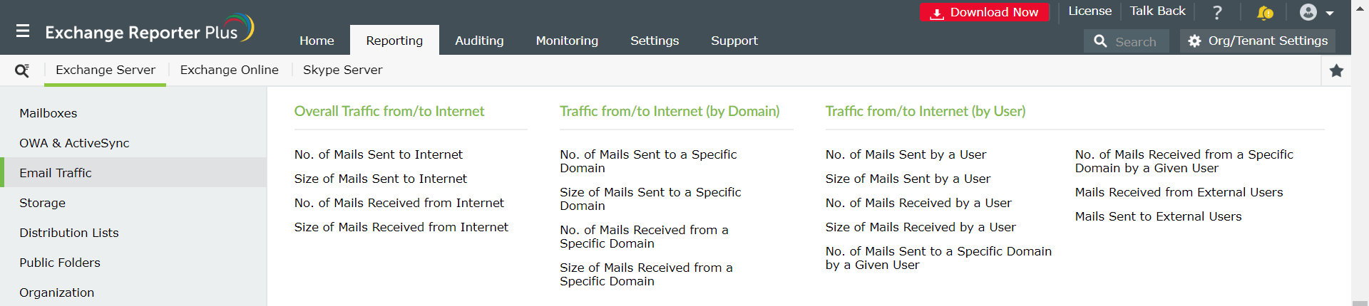 exchange-overall-internet-traffic-reports