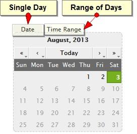 Select range of days