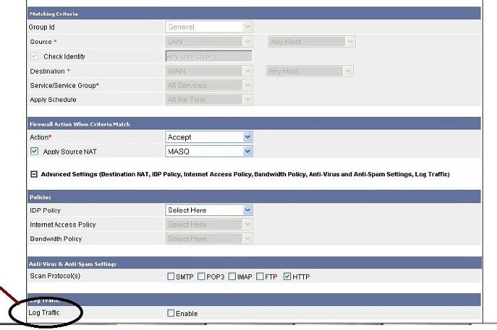Configure Cyberoam Firewall