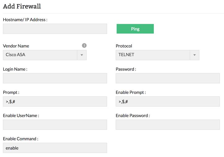 Add Device | Fetch Syslogs | ManageEngine Firewall Analyzer