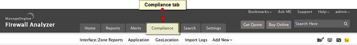 Compliance tab