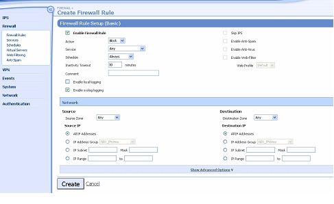 Firewall Rules Basic Setup