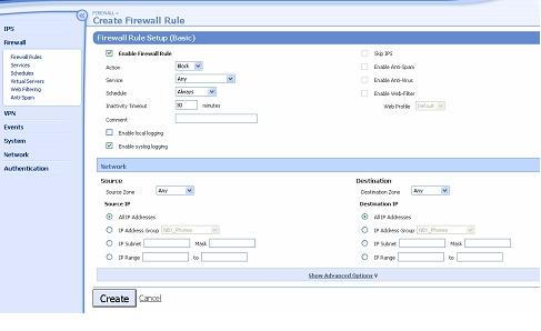 Firewall Rules Basic Setup
