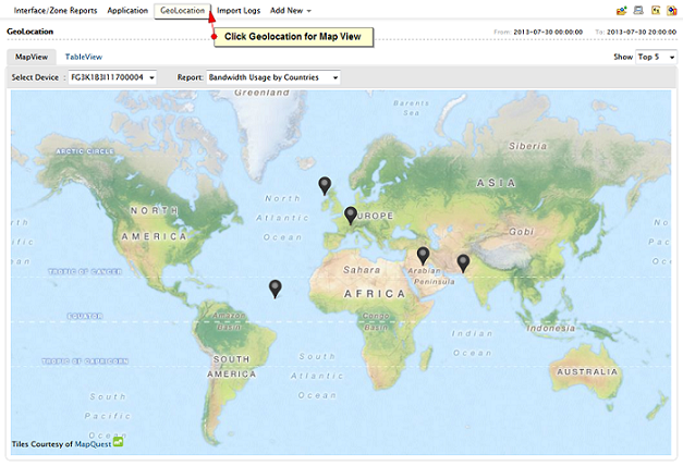 Geolocation - Map view