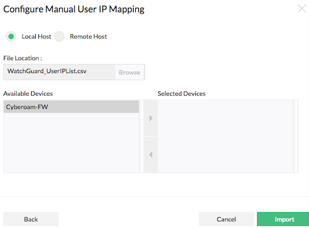 Map User Name - IP Address in Reports | ManageEngine Firewall Analyzer