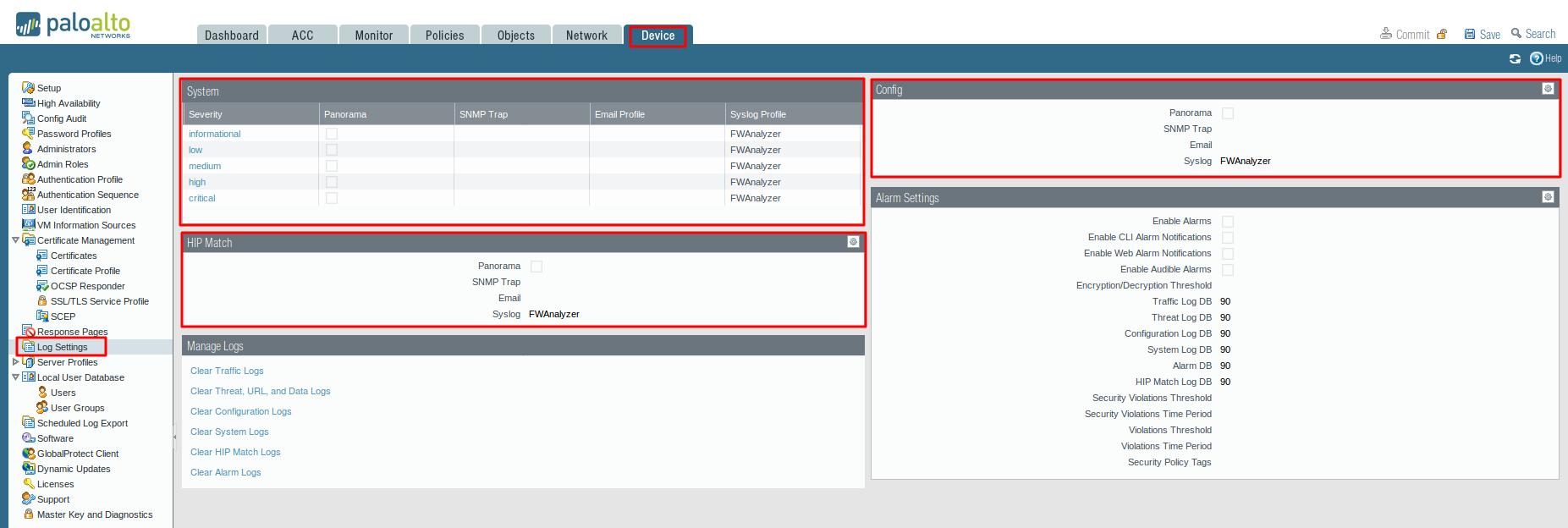 Configure PaloAlto Firewalls | Forward Syslog | Firewall