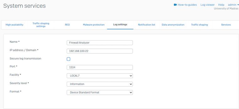Configure Sophos XG Firewalls | Forward Syslog | Firewall Analyzer