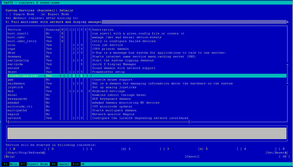 SUSE Linux Service Failure