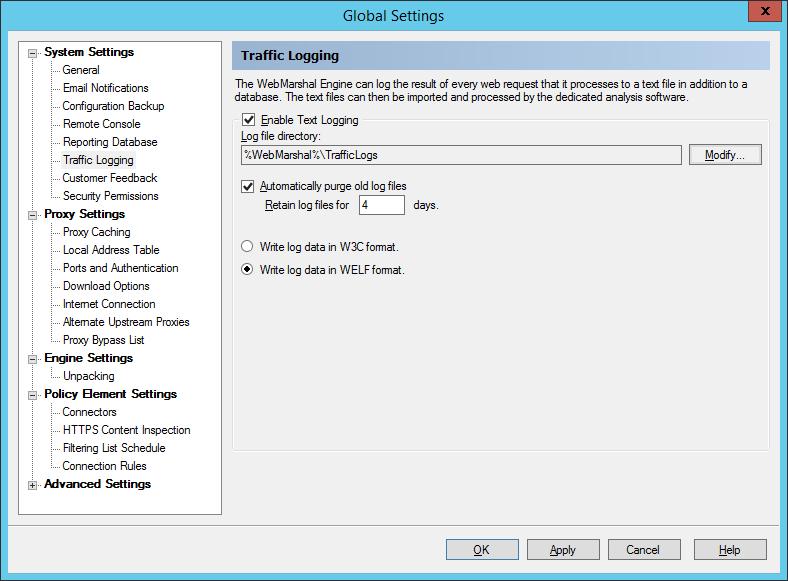 Configure WebMarshal Proxy | Forward Syslog | Firewall Analyzer