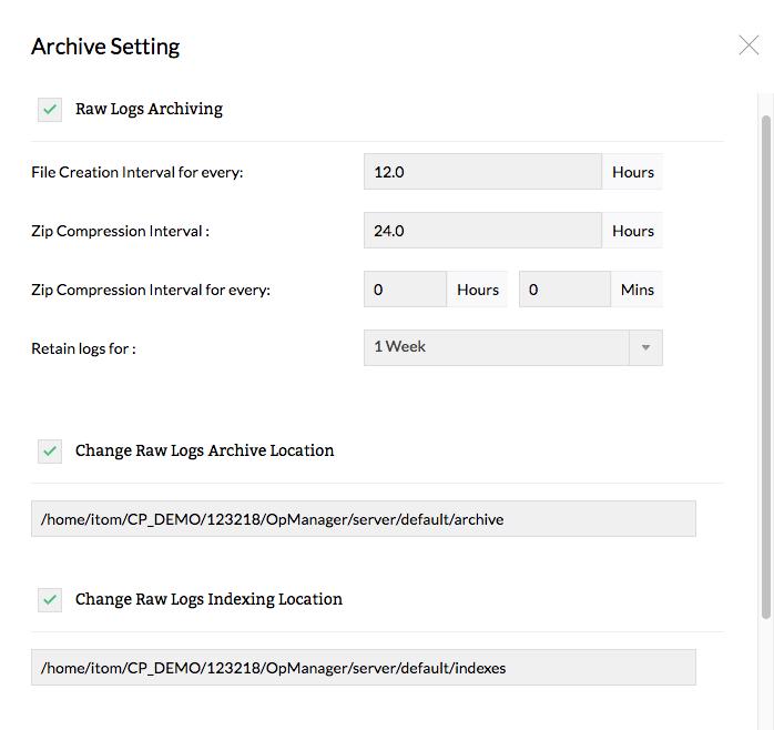 Configure firewall log archive retention