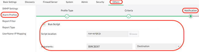 Firewall Analyzer Executing Script for Alerting