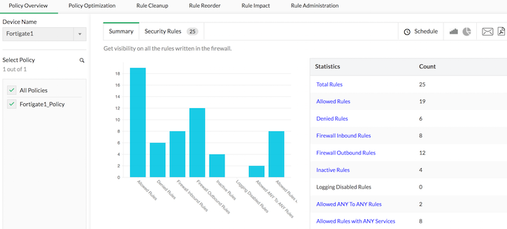Configuring Firewall Rules - ManageEngine Firewall Analyzer