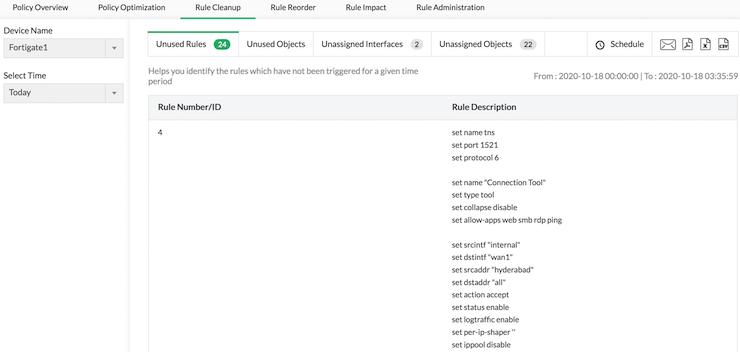 Firewall Rules Configuration - ManageEngine Firewall Analyzer