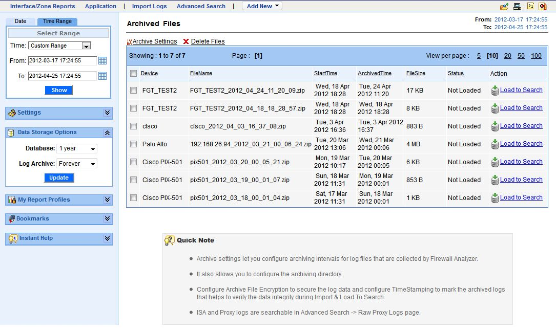 Firewall: Firewall Log Analyzer