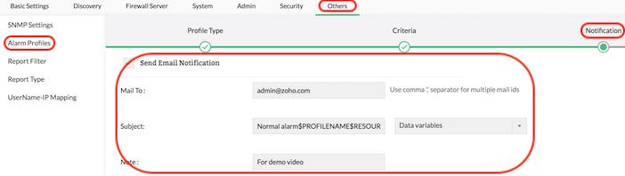 Firewall Analyzer Mail Server Settings