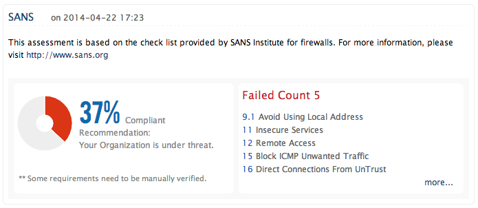 sans security policy templates - security audit change management firewall rule analysis