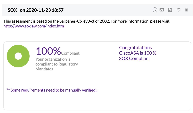 SOX Compliance Reports - ManageEngine Firewall Analyzer