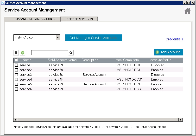 Windows Active Directory Free Service Account Management