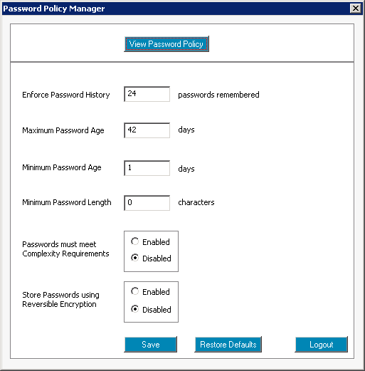 Free Active Directory Password Manager Tool