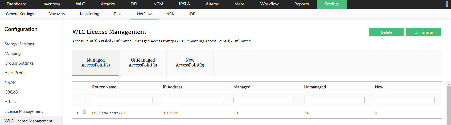 Managing a Controller/Access Point