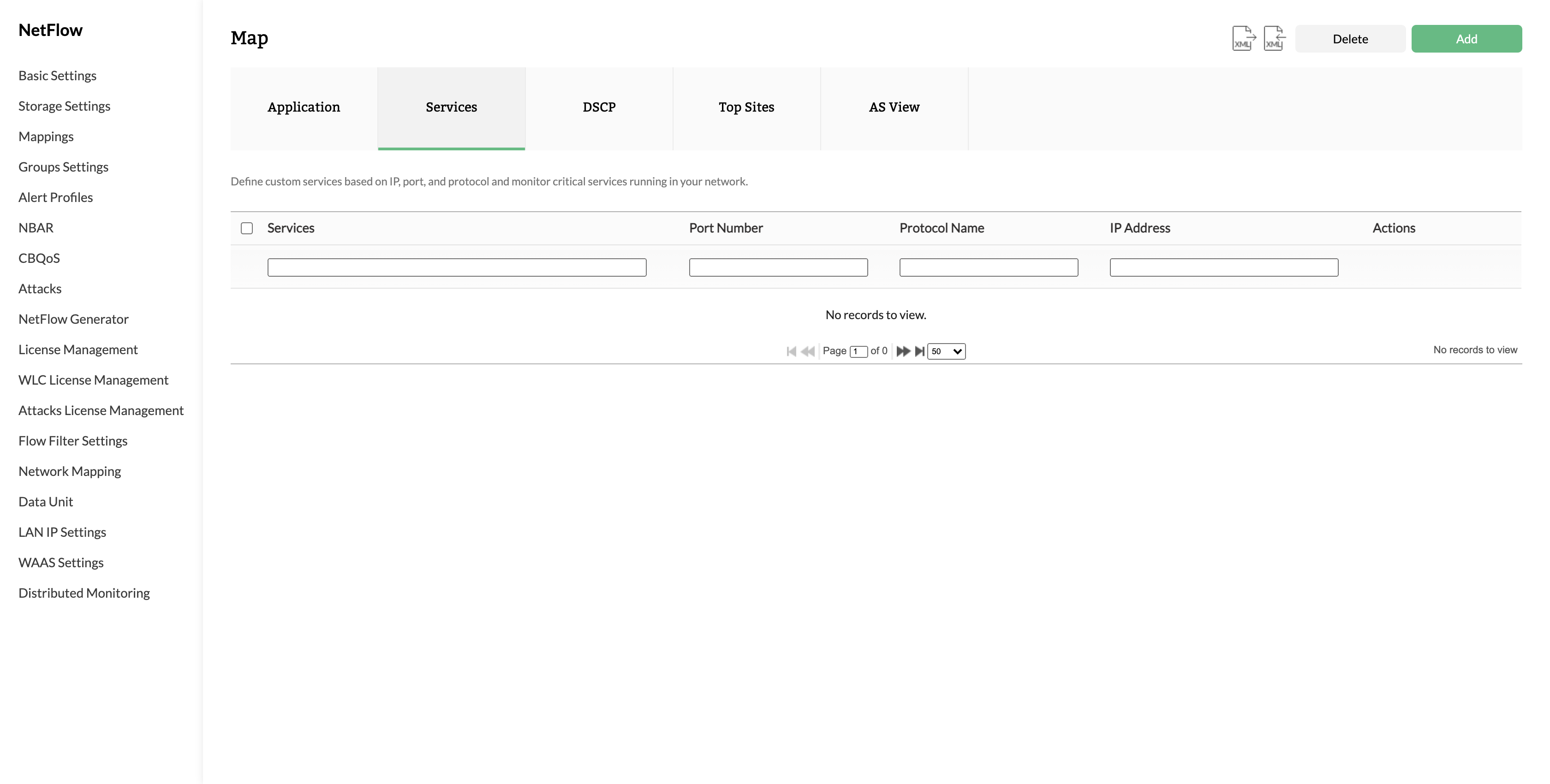 Services - ManageEngine Netflow Analyzer