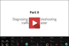 Diagnosing and troubleshooting traffic issues faster