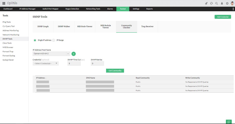IP Community Checker - ManageEngine OpUtils