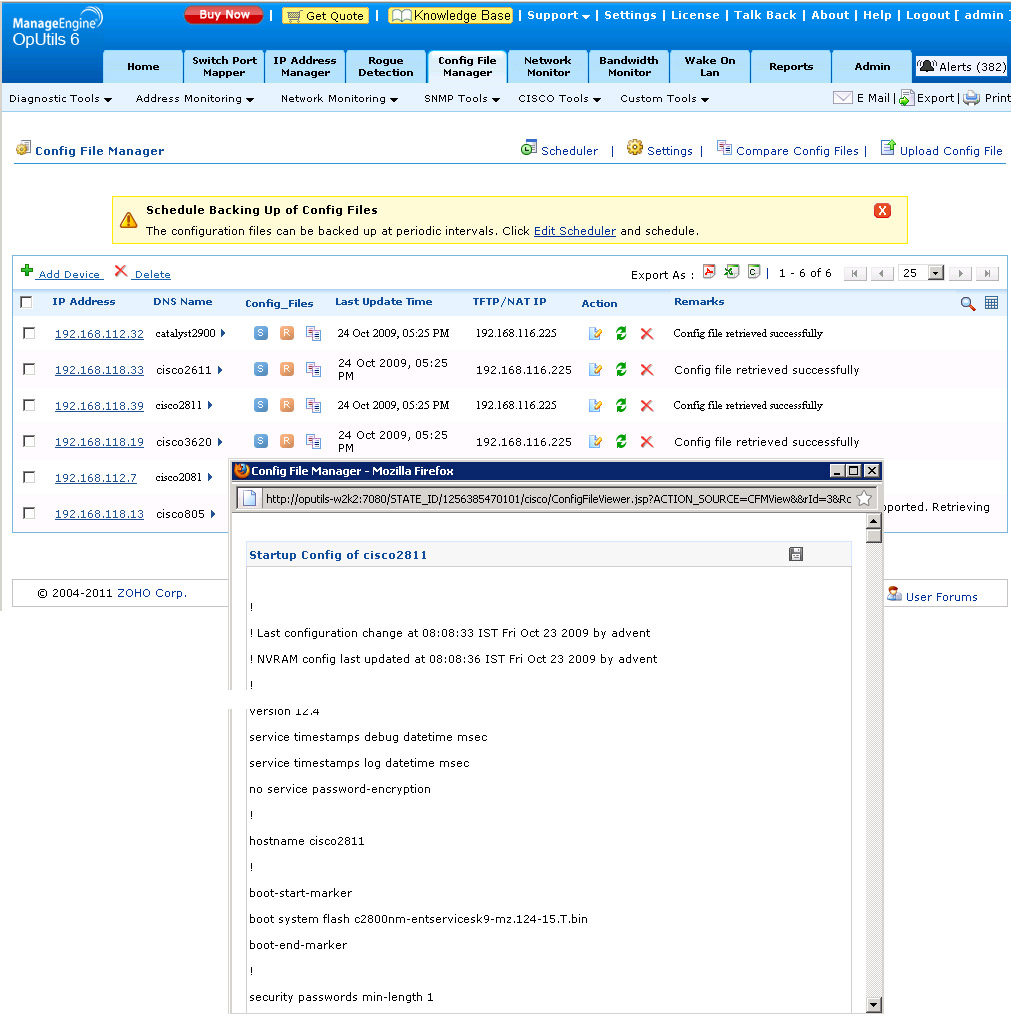 Cisco Config File Viewer