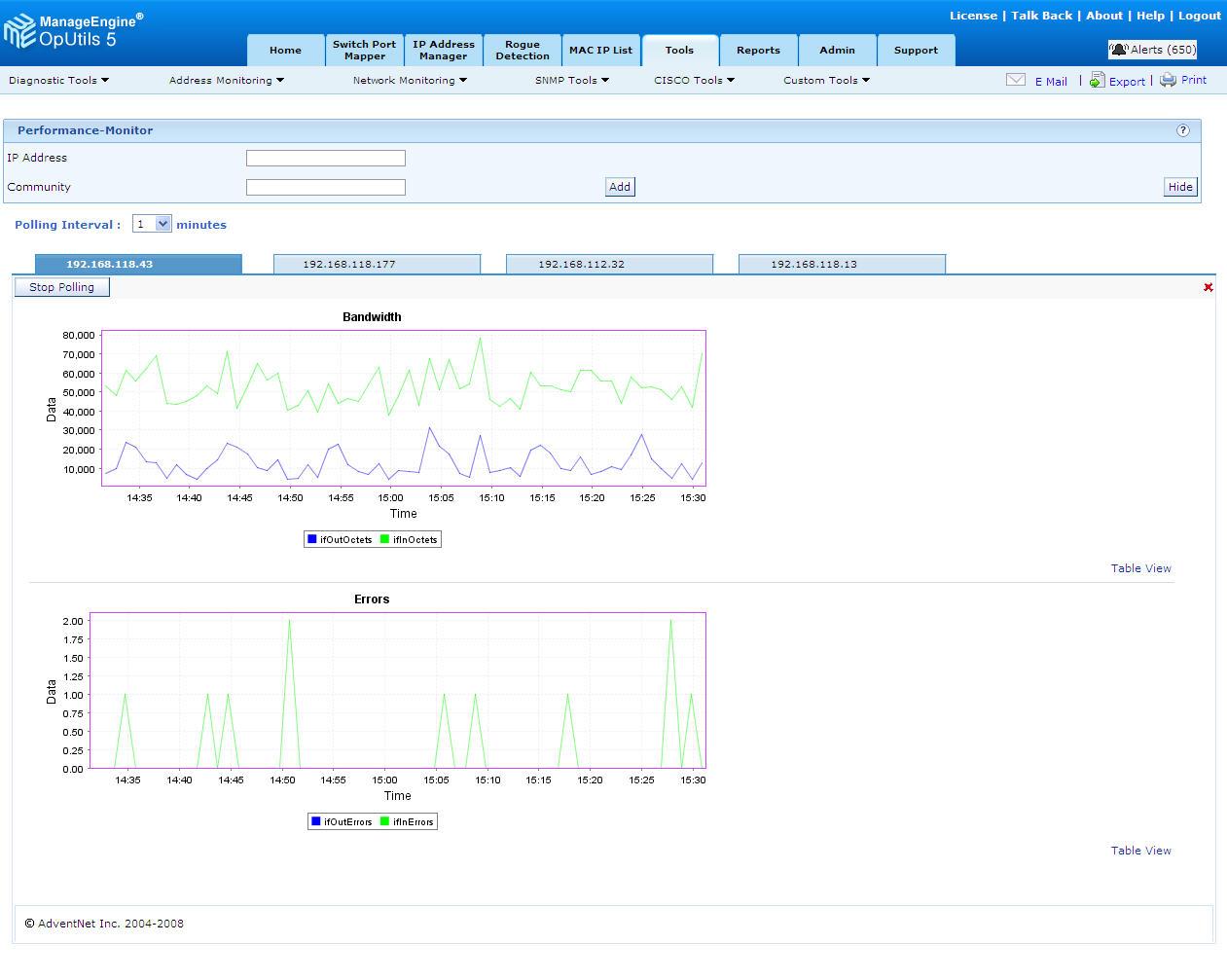 Custom SNMP Graph Tool