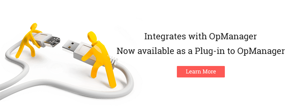 Integrates with OpManager