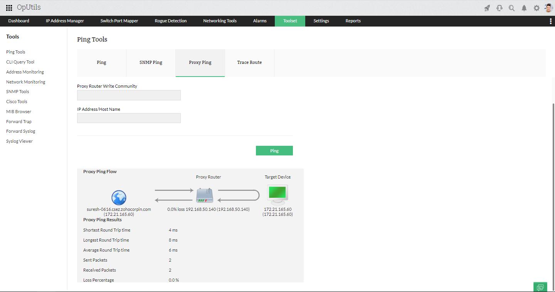 IP Address Tools - ManageEngine OpUtils