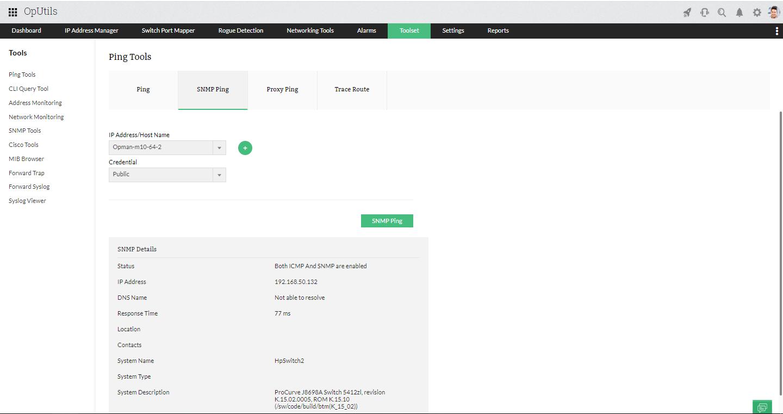 Network IP Tools - ManageEngine OpUtils