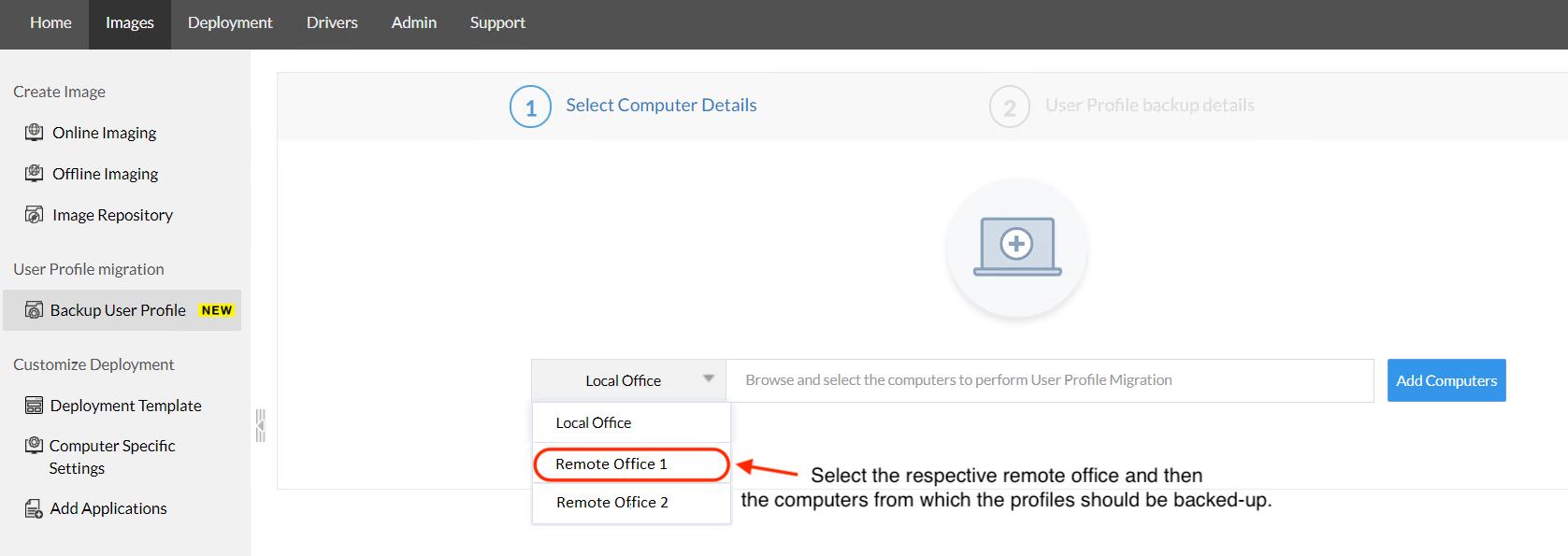 User profile back-up - OS Deployer