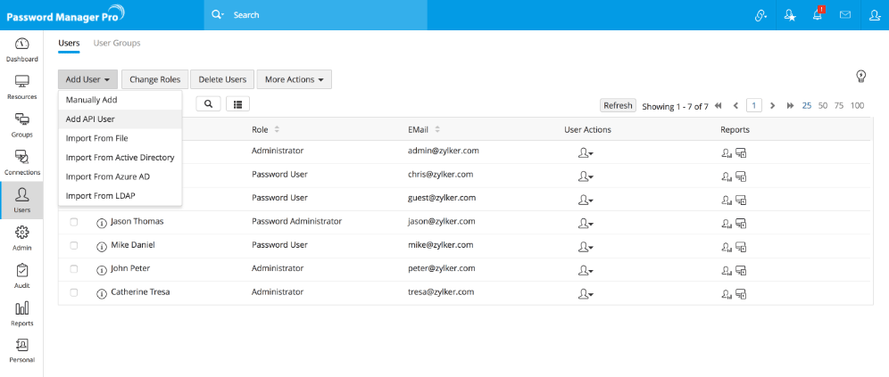 Application to Application Password Management Using APIs