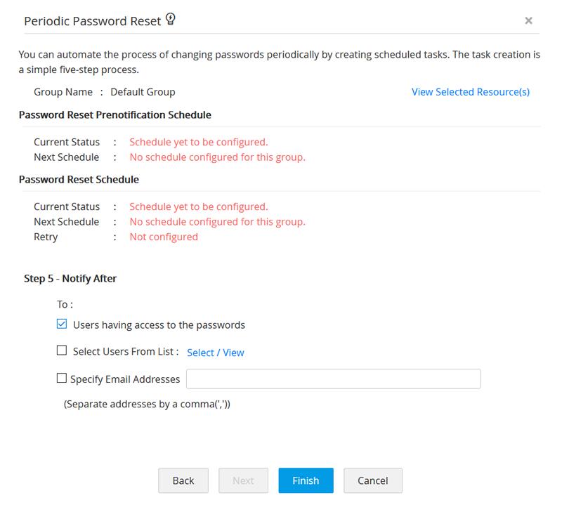 Periodic Password Reset