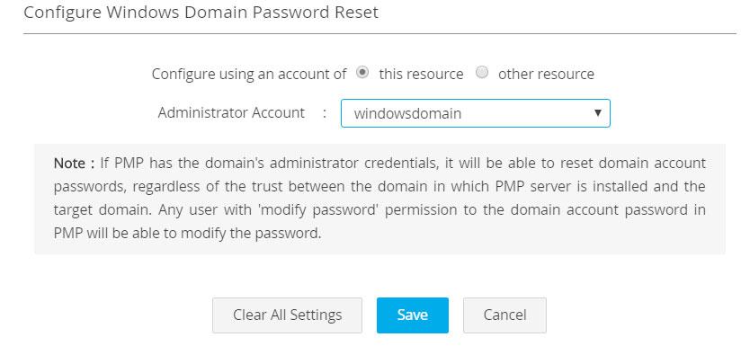 Remote Password Reset