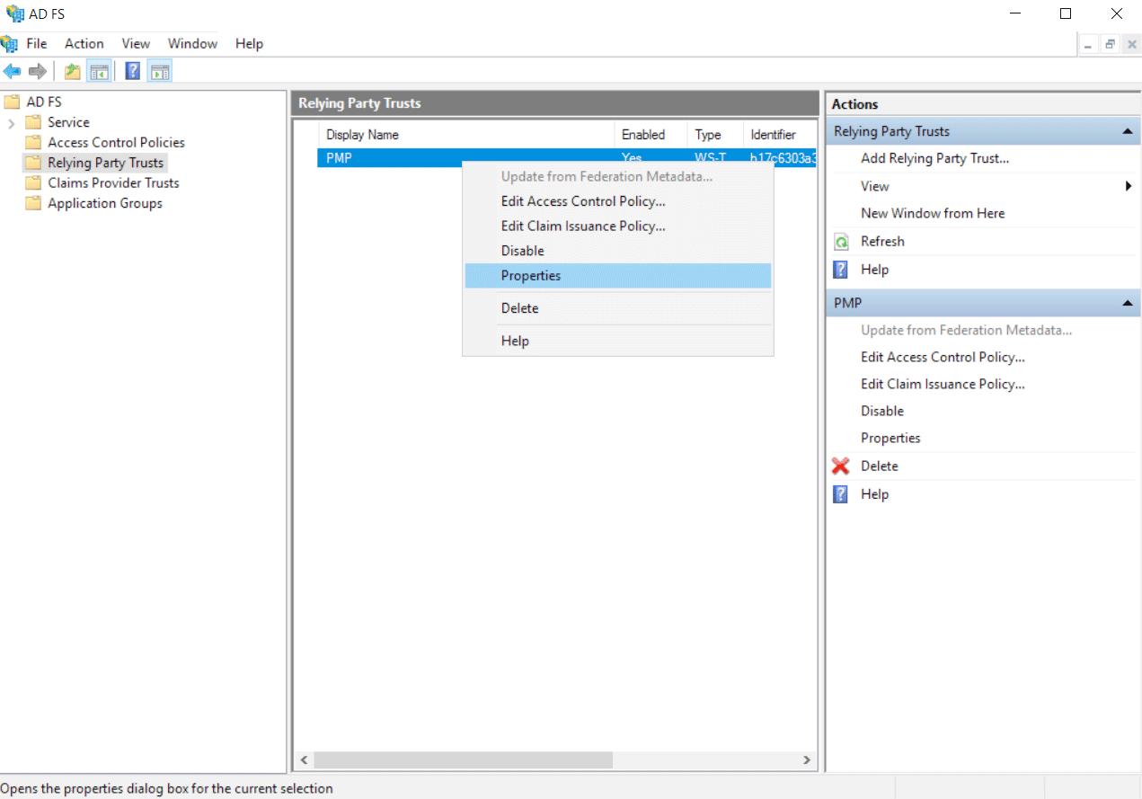 AD FS Single Sign-on Configuration Using SAML