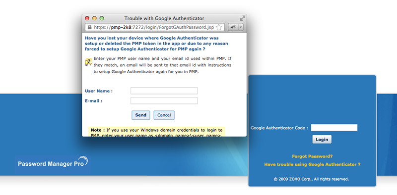 how to change authenticator email