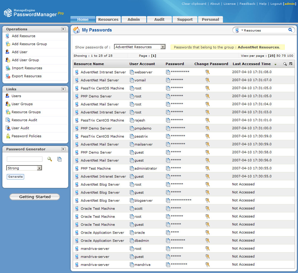 ManageEngine PasswordManager Pro Free Edition