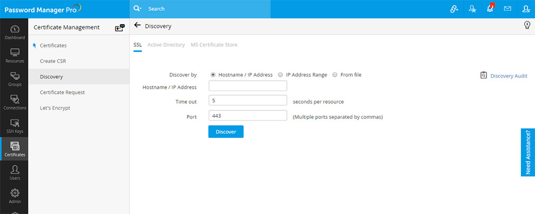 SSH key & SSL certificate management integration