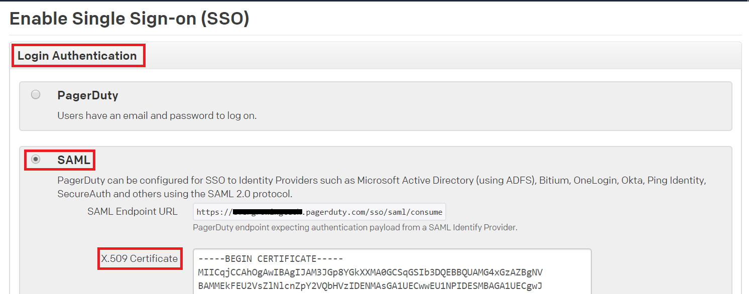 Configuring SAML SSO for PagerDuty