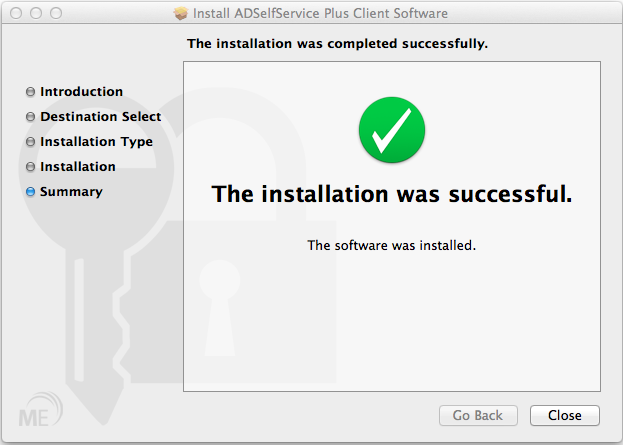Mac OS X Login Agent Installation - Summary